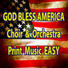 Thumbnail God Bless America CHoir & Orchestration EASY