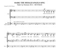 Thumbnail Hark The Herald Angels Sing SATB acappella with percussion