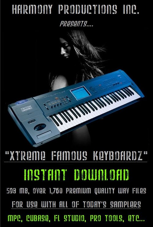 Pay for Xtreme Famous Keyboard Samples R&B/Hip Hop Production.