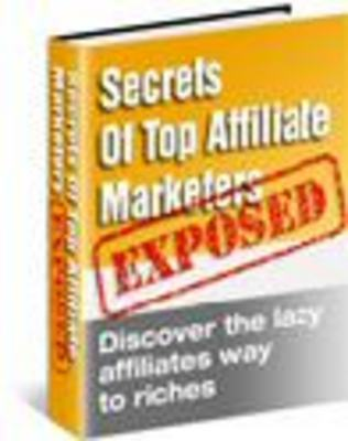Pay for Secrets Of The Top Affiliate Marketers