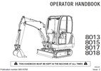 Thumbnail JCB 8013 8015 8017 8018 Operator Handbook