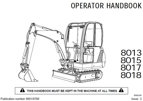 jcb 8013 8015 8017 8018 operator handbook download manuals rh tradebit com JCB 8018 Tracks Mini Digger JCB 8018