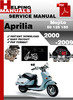Thumbnail Aprilia Mojito 50 125 150 2000-2009 Service Repair Manual Download