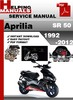 Thumbnail Aprilia SR 50 1992-2012 Service Repair Manual Download