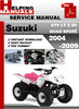 Thumbnail Suzuki ATV  LT Z 50 QUAD SPORT 2004-2009 Service Repair Manual Download
