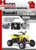 Thumbnail Suzuki ATV  LT R 450 2006-2009 Service Repair Manual Download
