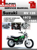 Thumbnail Suzuki RV 125 1972-1985 Service Repair Manual Download