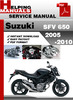 Thumbnail Suzuki SFV 650 2005-2010 Service Repair Manual Download