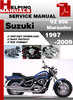 Thumbnail Suzuki VZ 800 Marauder 1997-2009 Service Repair Manual Download