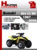 Thumbnail Suzuki ATV LT 80 1987-2006 Service Repair Manual Download