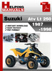 Thumbnail Suzuki ATV LT 250 1987-1998 Service Repair Manual Download