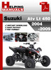 Thumbnail Suzuki ATV LT 450 2004-2009 Service Repair Manual Download