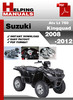 Thumbnail Suzuki ATV LT 750 KingQuad 2008-2012 Service Repair Manual Dowload