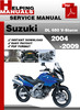 Thumbnail Suzuki DL 650 V-Storm 2004-2009 Service Repair Manual Download