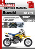 Thumbnail Suzuki DR Z 70 2007-2010 Service Repair Manual Download
