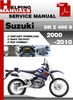 Thumbnail Suzuki DR Z 400 S 2000-2010 Service Repair Manual Download
