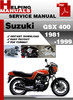 Thumbnail Suzuki GSX 400 1981-1999 Service Repair Manual Download