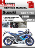 Thumbnail Suzuki GSX R 750 1988-2010 Service Repair Manual Download