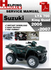 Thumbnail Suzuki LTA 700 King Quad 2005-2007 Service Repair Manual Dowload