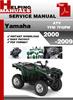 Thumbnail Yamaha ATV YFM 7FGPW 2000-2009 Service Repair Manual Download