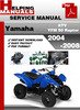 Thumbnail Yamaha ATV YFM 50 Raptor 2004-2008 Service Repair Manual Download