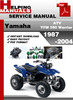 Thumbnail Yamaha ATV YFM 350 Warrior 1987-2004 Service Repair Manual Download