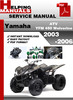 Thumbnail Yamaha ATV YFM 450 Wolverine 2003-2006 Service Repair Manual Download