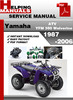 Thumbnail Yamaha ATV YFM 350 Wolverine 1987-2006 Service Repair Manual Download