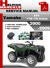 Thumbnail Yamaha ATV YFM 700 Grizzly 2000-2009 Service Repair Manual Download