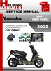 Thumbnail Yamaha JOG CS50 CS50Z 2002 Service Repair Manual Download