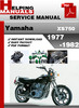 Thumbnail Yamaha XS750 1977-1982 Service Repair Manual Download