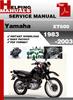Thumbnail Yamaha XT600 1983-2003 Service Repair Manual Download