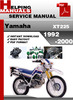 Thumbnail Yamaha XT225 1992-2000 Service Repair Manual Download