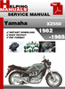 Thumbnail Yamaha XZ550 1982-1985 Service Repair Manual Download