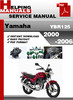 Thumbnail Yamaha YBR125 2000-2006 Service Repair Manual Download