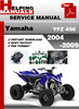 Thumbnail Yamaha YFZ 450 2004-2009 Service Repair Manual Download