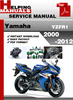 Thumbnail Yamaha YZFR1 2000-2012 Service Repair Manual Download