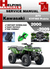 Thumbnail Kawasaki ATV KVF360 Prairie 2000-2009 Service Repair Manual Download
