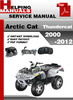 Thumbnail Arctic Cat Thundercat 2000-2012 ATV Service Repair Manual Download