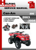 Thumbnail Can-Am 200 2003-2005 Service Repair Manual Download