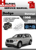 Thumbnail Dodge Durango 1998-2005 Service Repair Manual Download