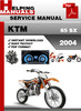 Thumbnail KTM 85 SX 2004 Service Repair Manual Download