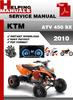 Thumbnail KTM ATV 450 SX 2010 Service Repair Manual Download