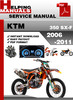 Thumbnail KTM 350 SX-F 2006-2011 Service Repair Manual Download