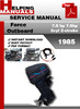 Thumbnail Force Outboard 7.5 hp 7.5hp 2cyl 2-stroke 1985 Service Repair Manual Download