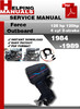 Thumbnail Force Outboard 125 hp 120hp 4 cyl 2-stroke 1984-1989 Service Repair Manual Download
