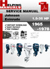 Thumbnail Johnson Evinrude 1965-1978 Outboard Service Repair Manual Download