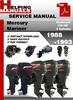 Thumbnail Mercury Mariner Outboard 100 HP 4 Cylinder 1988-1993 Service Repair Manual Download