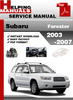 Thumbnail Subaru Forester 2003-2007 Service Repair Manual Download