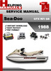 Thumbnail Sea-Doo GTX RFI GS 1998 Service Repair Manual Download